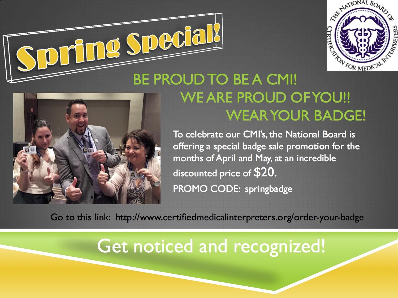 Certified Medical Interpreter Badge